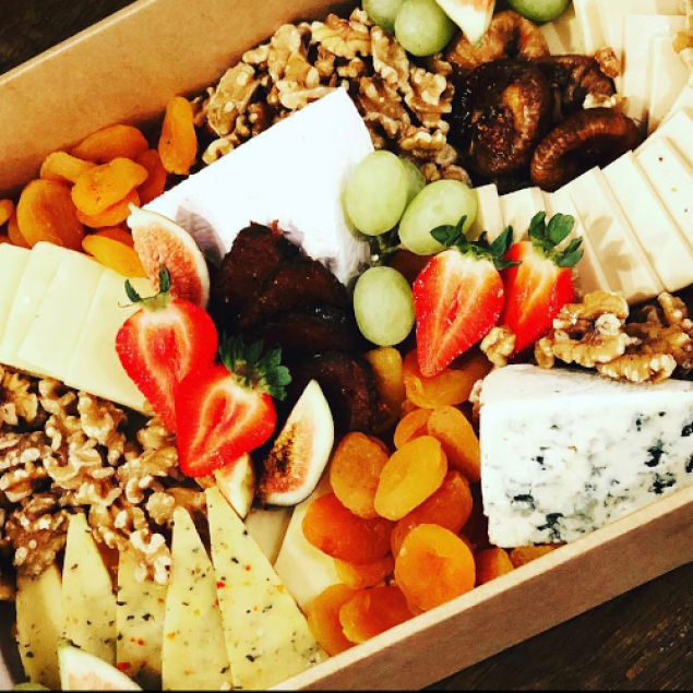Handcrafted cheese grazing platter
